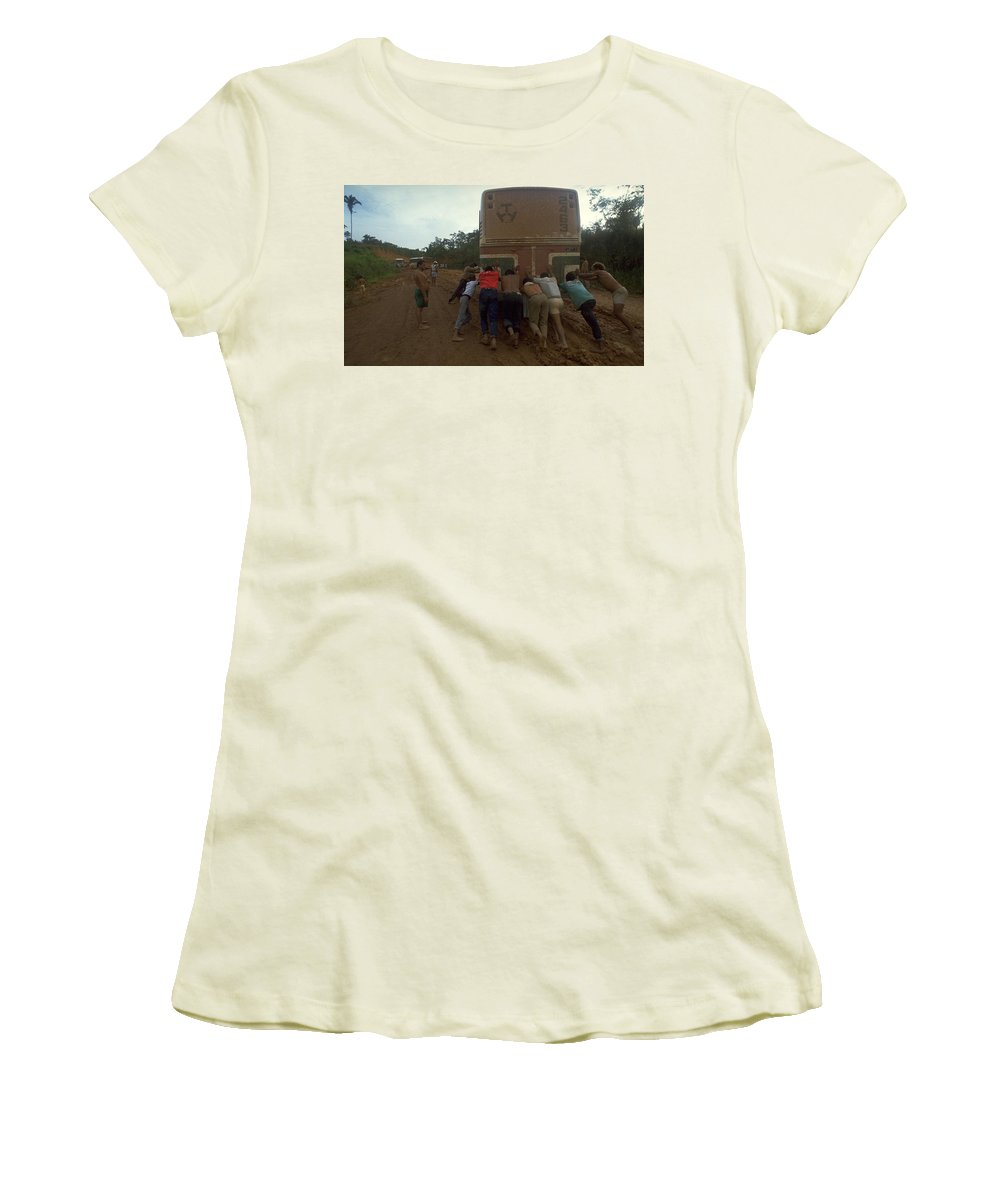 Fit For Travel Brazil: Trans Amazonian Highway, Brazil Women's T-Shirt For Sale
