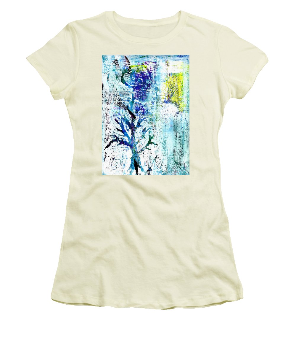 Tree Women's T-Shirt (Athletic Fit) featuring the painting Tree Of Life by Wayne Potrafka