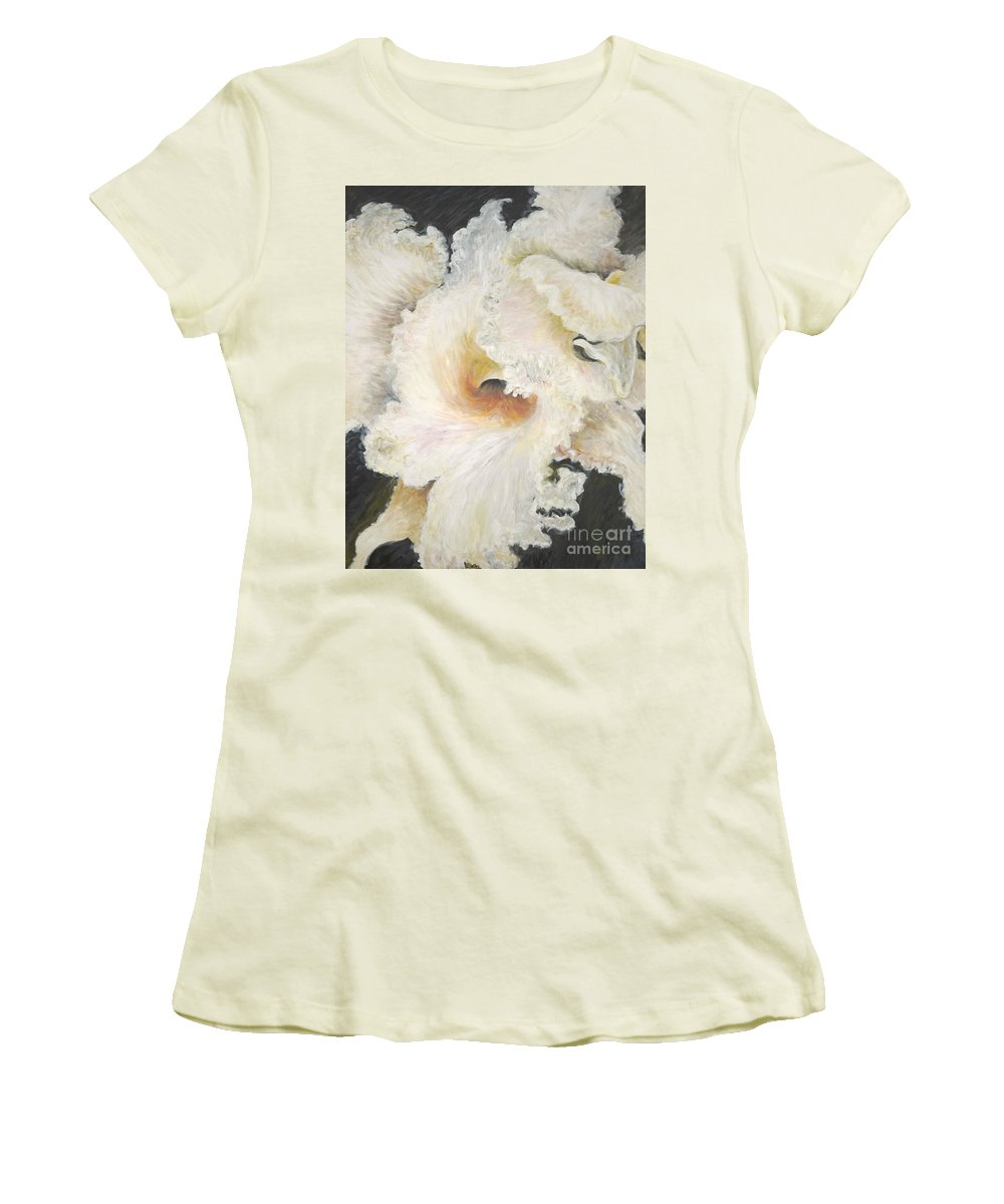 Flower Women's T-Shirt (Athletic Fit) featuring the painting Tropical Flowers by Nadine Rippelmeyer