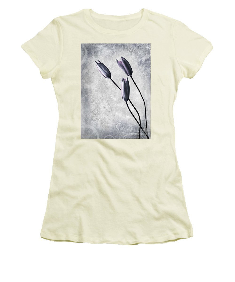 Flowers Women's T-Shirt (Athletic Fit) featuring the photograph Tulips by Jacky Gerritsen