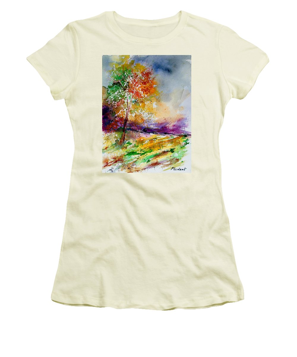 Spring Women's T-Shirt (Athletic Fit) featuring the painting Watercolor 100507 by Pol Ledent