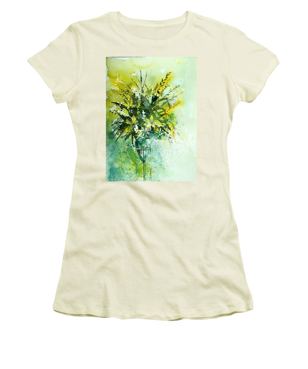 Flowers Women's T-Shirt (Athletic Fit) featuring the painting Watercolor 120406 by Pol Ledent