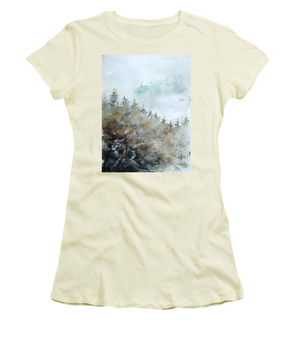 Tree Women's T-Shirt (Athletic Fit) featuring the painting Watercolor 356214 by Pol Ledent