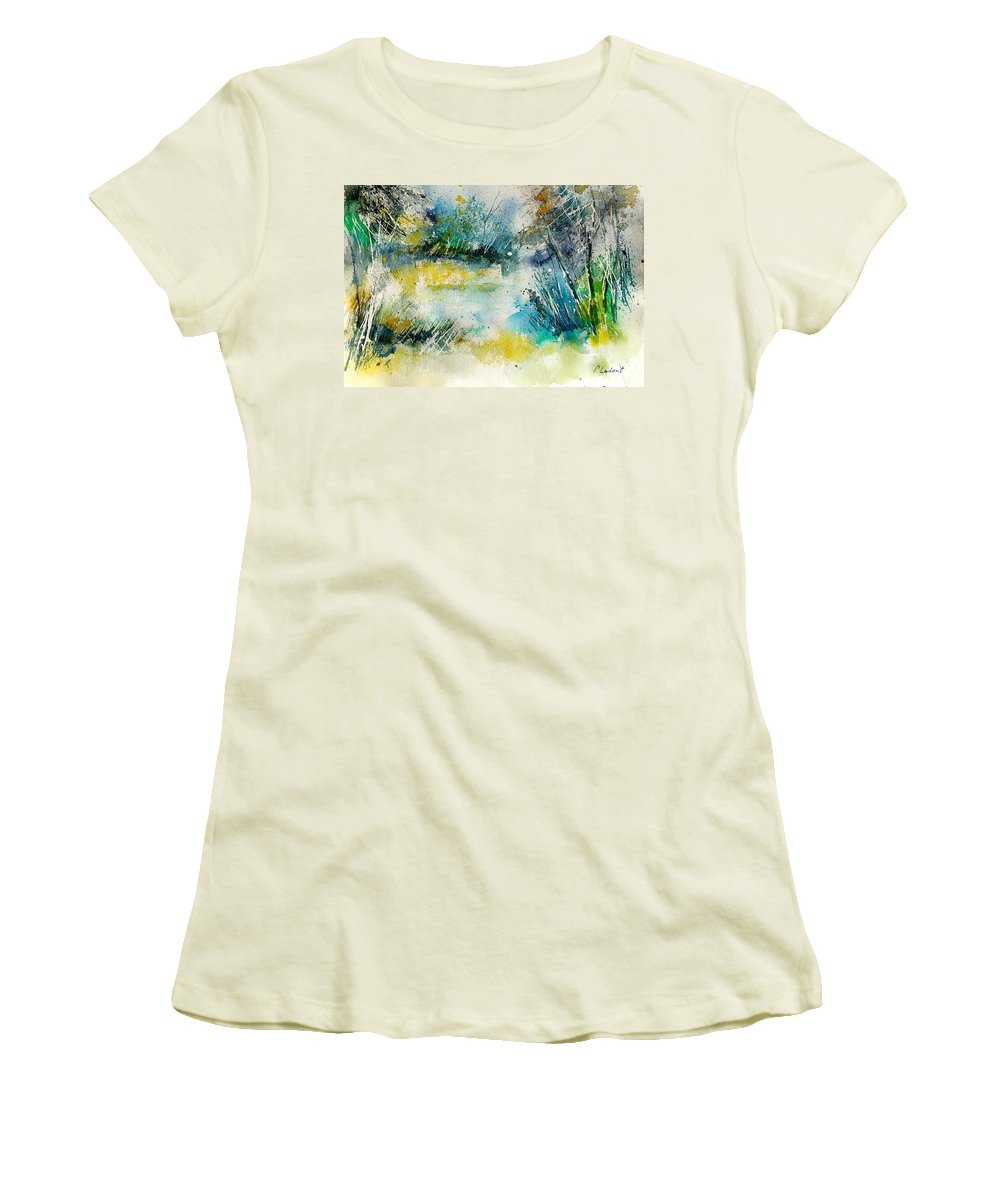Water Women's T-Shirt (Athletic Fit) featuring the painting Watercolor 906020 by Pol Ledent
