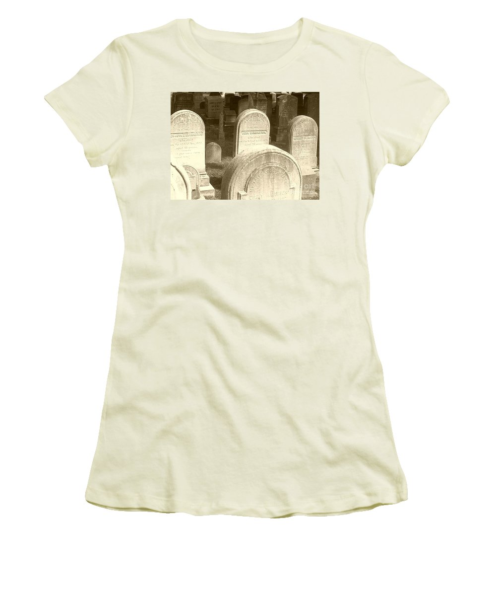 Cemetery Women's T-Shirt (Athletic Fit) featuring the photograph Welcome by Debbi Granruth