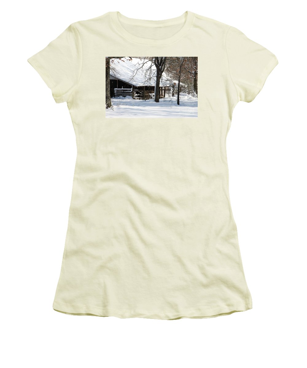 Rural Women's T-Shirt (Athletic Fit) featuring the photograph Wrapped In Silence by Amanda Barcon