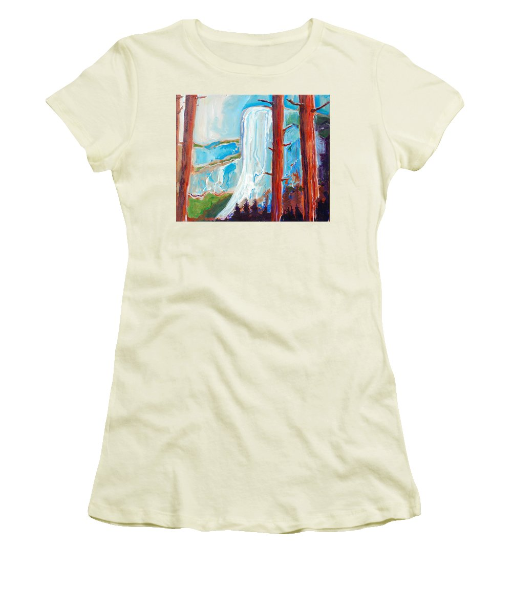 Women's T-Shirt (Athletic Fit) featuring the painting Yosemite by Kurt Hausmann