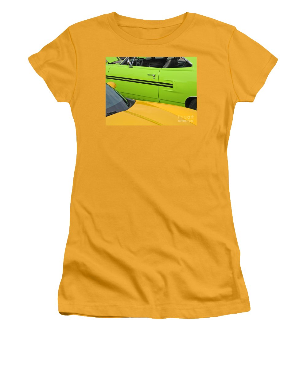 Car Women's T-Shirt (Athletic Fit) featuring the photograph Classy Classics by Ann Horn