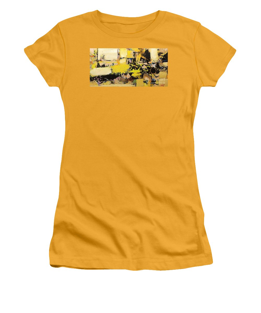 Landscape Women's T-Shirt (Athletic Fit) featuring the painting Euclid by Allan P Friedlander