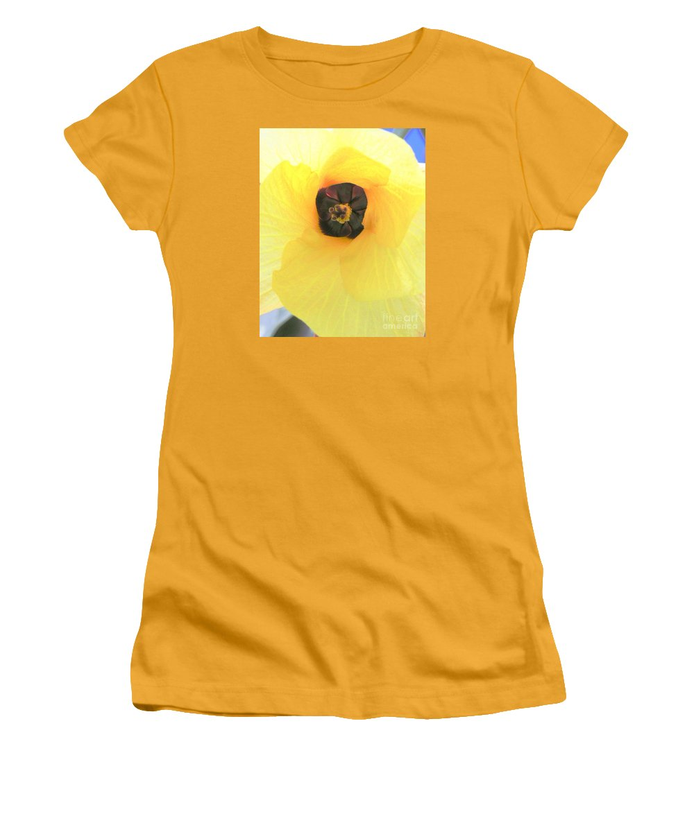 Hau Blossom Women's T-Shirt (Athletic Fit) featuring the photograph Hau Blossom by Mary Deal
