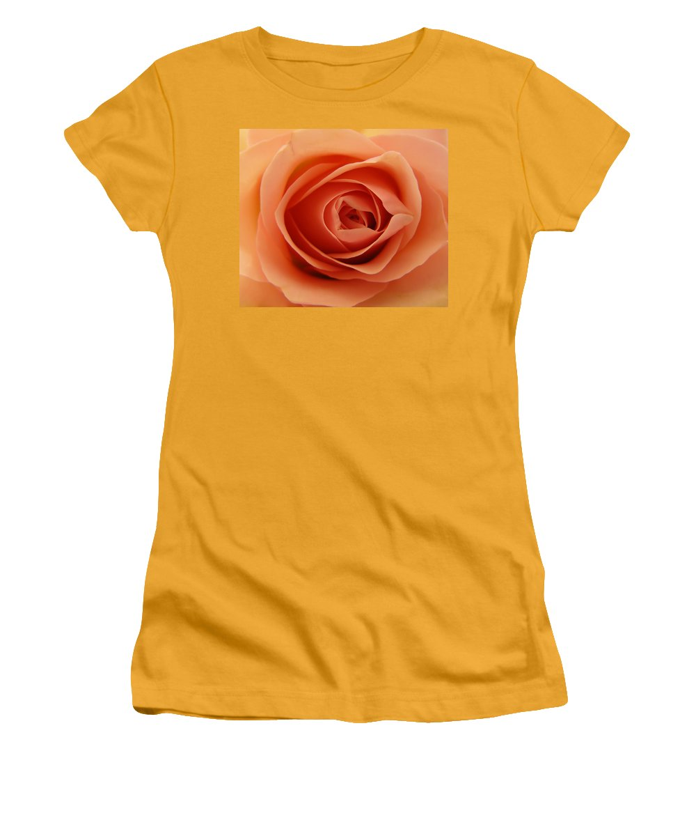 Rose Women's T-Shirt (Athletic Fit) featuring the photograph Rose by Daniel Csoka