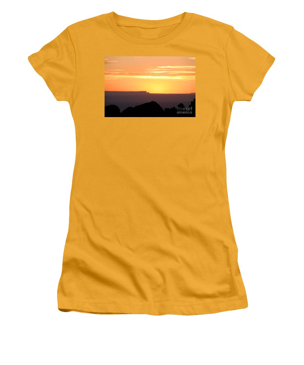 Western Us Women's T-Shirt (Athletic Fit) featuring the photograph A Western Sunset by David Lee Thompson