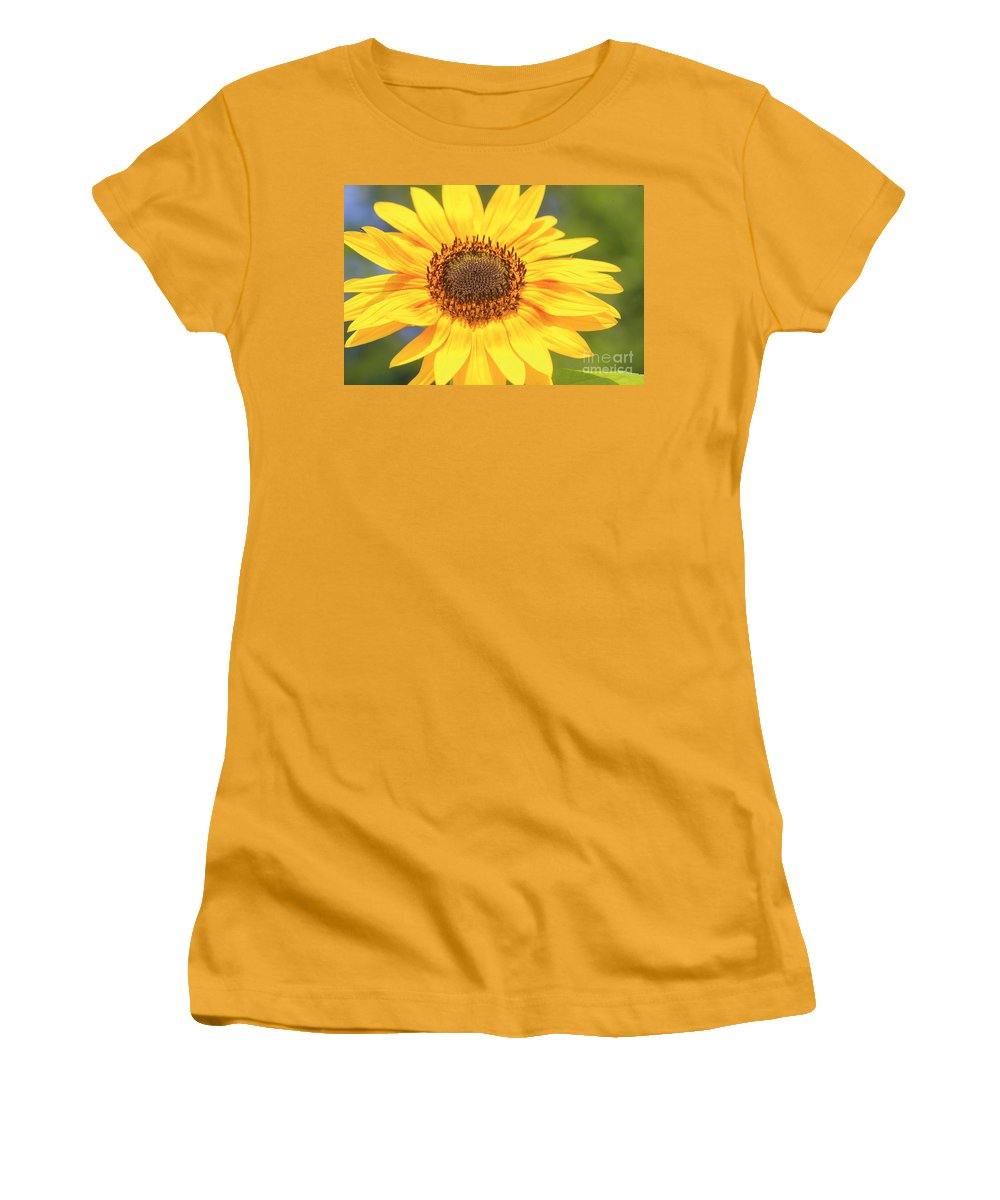Flower Women's T-Shirt (Athletic Fit) featuring the photograph Aburst Of Yellow by Robert Pearson