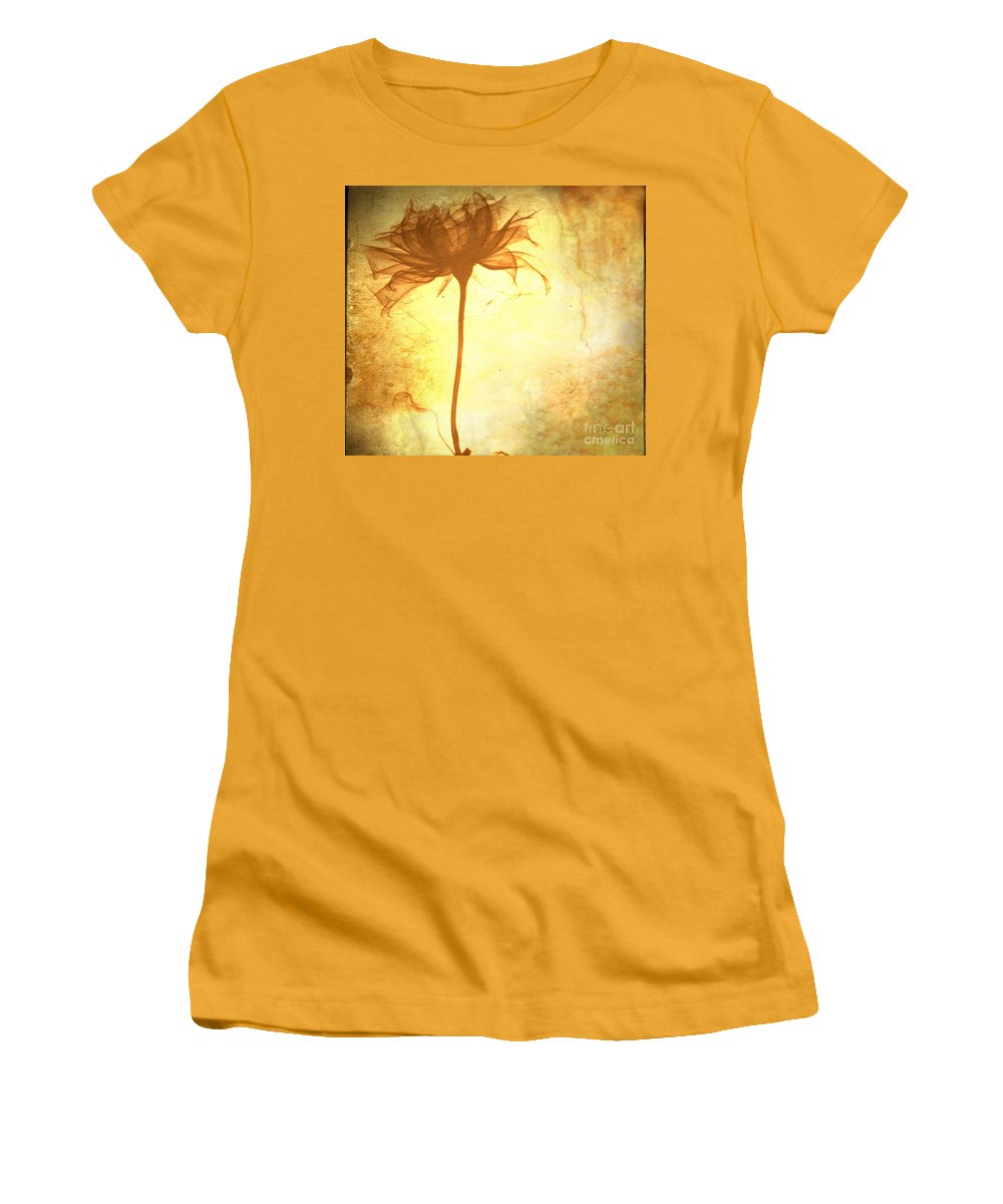 Flower Women's T-Shirt (Athletic Fit) featuring the painting Against All Odds by Jacky Gerritsen