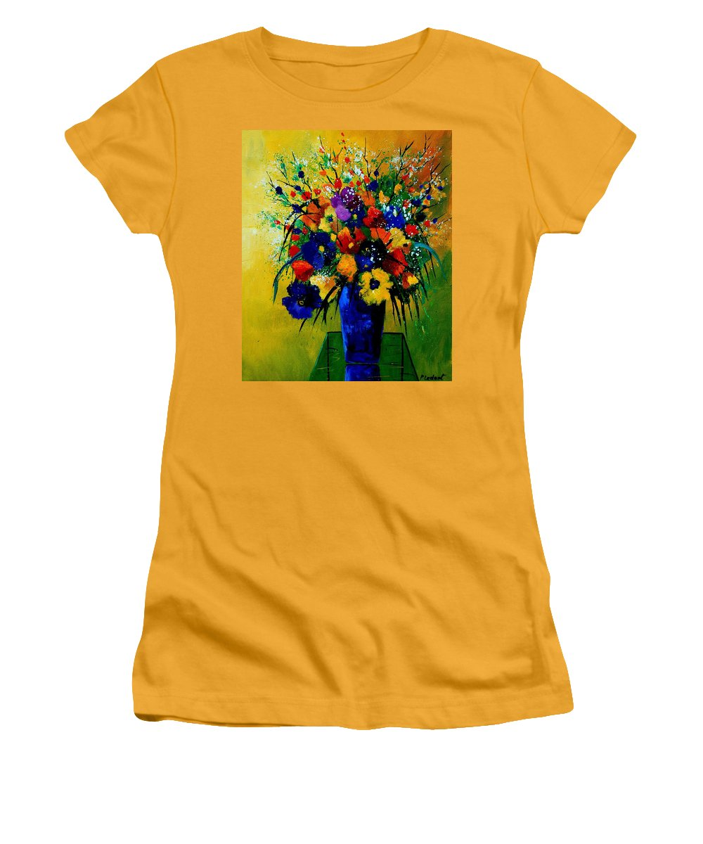 Poppies Women's T-Shirt (Athletic Fit) featuring the painting Bunch 0508 by Pol Ledent