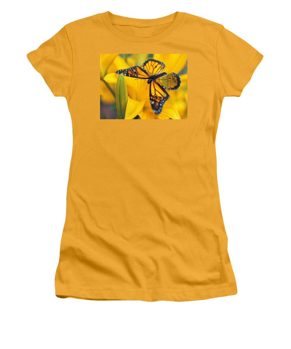 Butterfly Women's T-Shirt (Athletic Fit) featuring the digital art Butterfly by Tim Allen