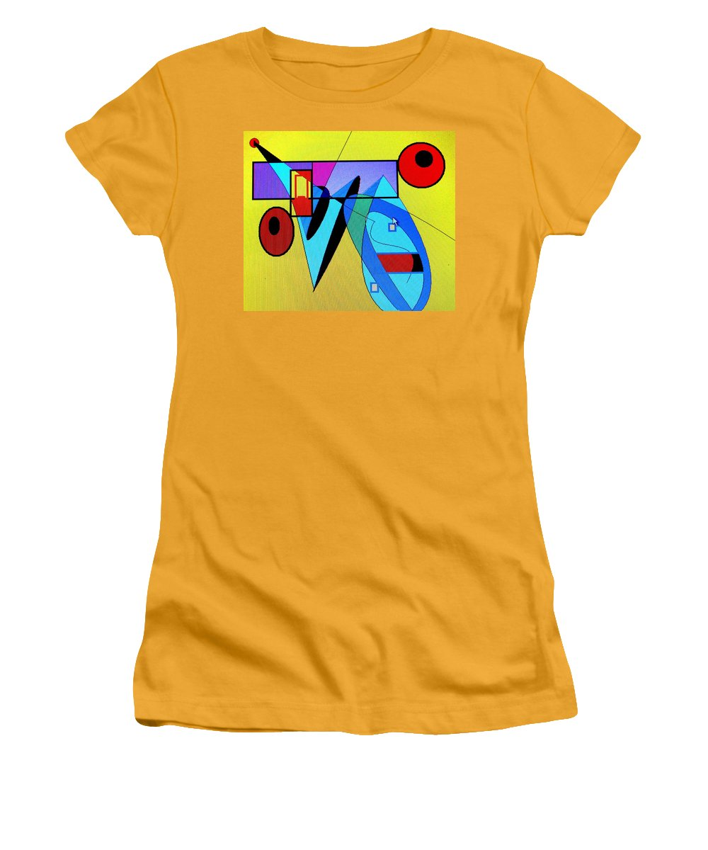 Horn Women's T-Shirt (Athletic Fit) featuring the digital art Come Blow Your Horn by Ian MacDonald