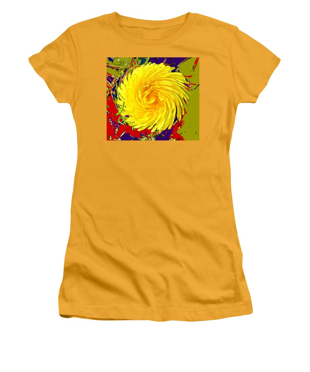 Flower Women's T-Shirt (Athletic Fit) featuring the photograph Dandy Three by Ian MacDonald