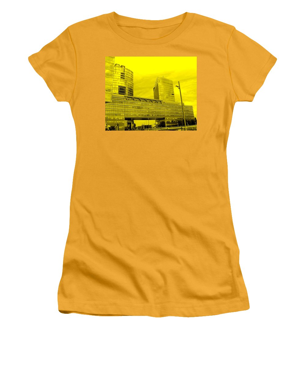 Vienna Women's T-Shirt (Athletic Fit) featuring the photograph Daring Architecture by Ian MacDonald