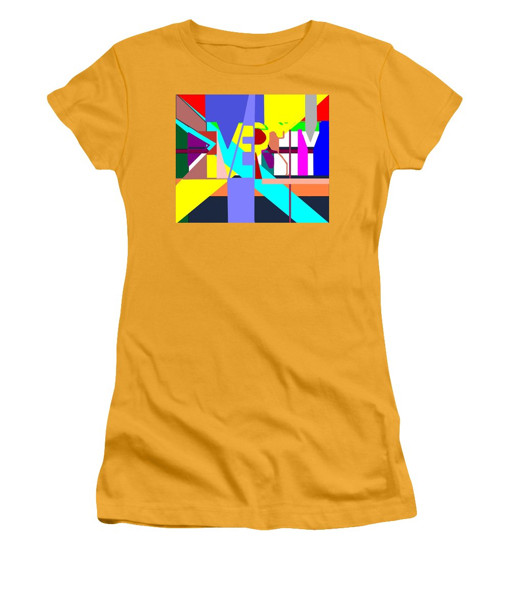 Diversity Women's T-Shirt (Athletic Fit) featuring the digital art Diversity Enmeshed by Pharris Art