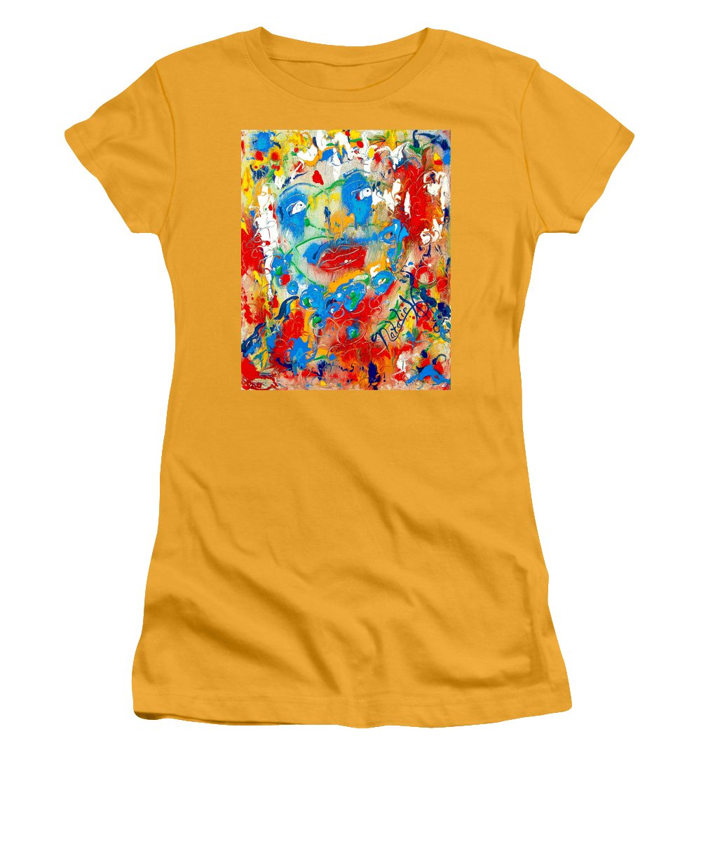 Woman Women's T-Shirt (Athletic Fit) featuring the painting Fantasia by Natalie Holland