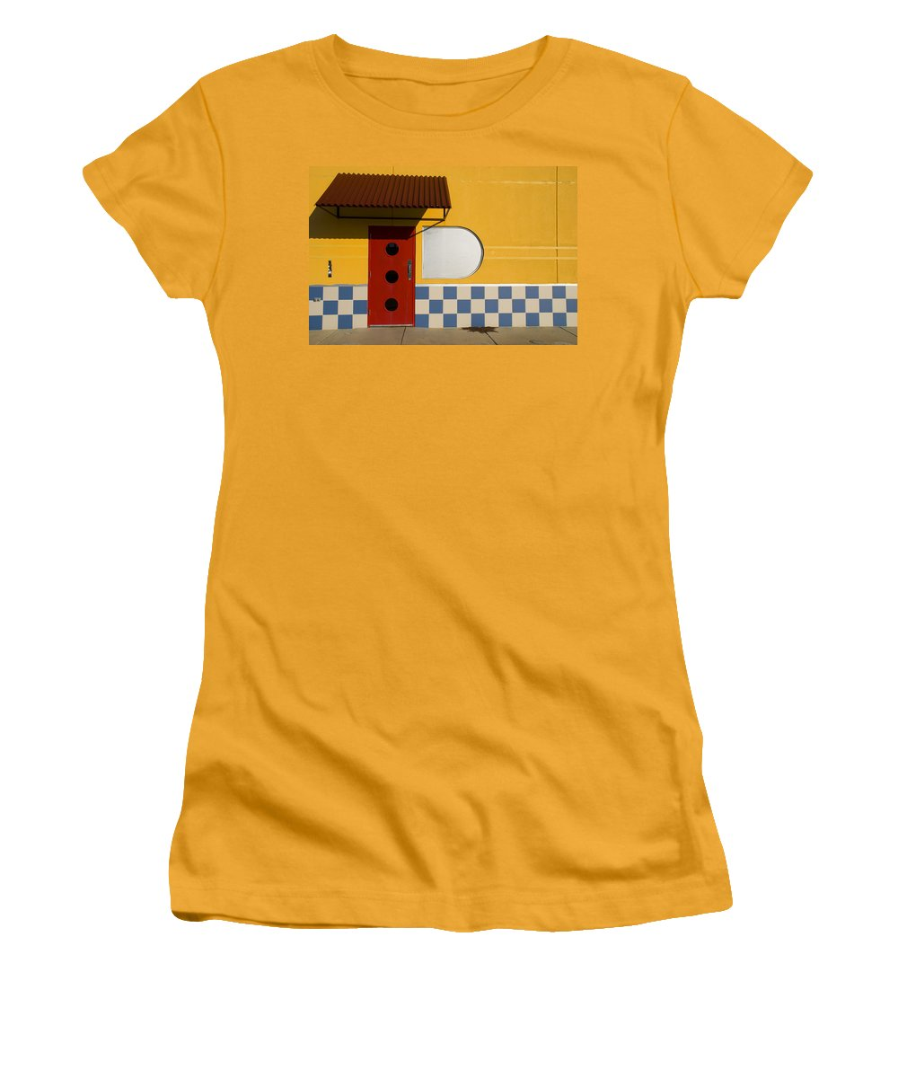 Architecture Women's T-Shirt (Athletic Fit) featuring the photograph Happy Days by Skip Hunt