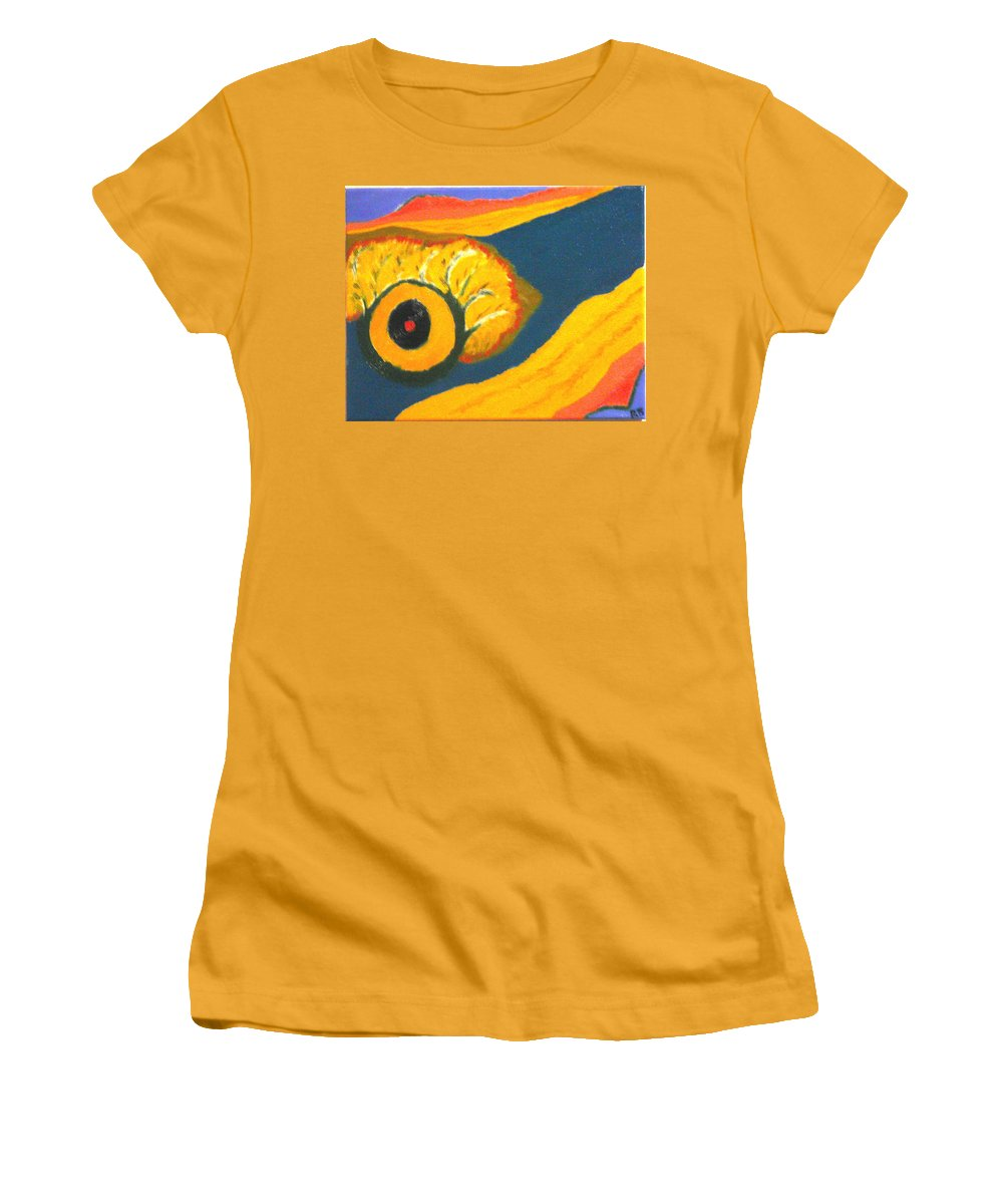 Women's T-Shirt (Athletic Fit) featuring the painting Krshna by R B