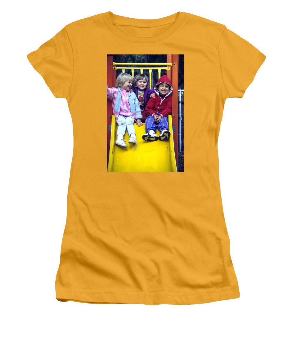Girl Women's T-Shirt (Athletic Fit) featuring the photograph Love Thy Neighbor by Laurie Paci