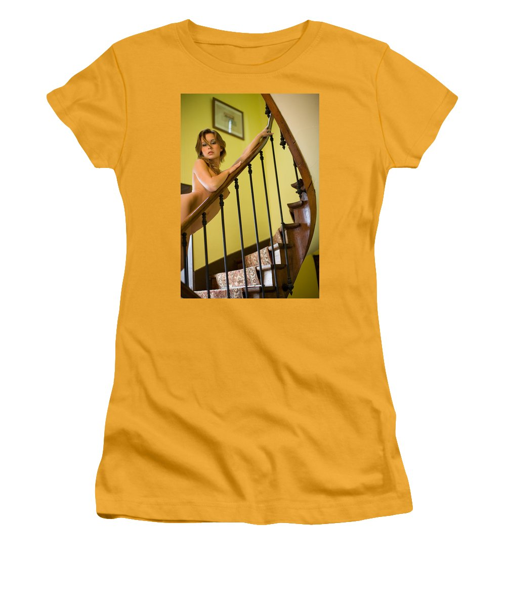 Sensual Women's T-Shirt (Athletic Fit) featuring the photograph Marie by Olivier De Rycke