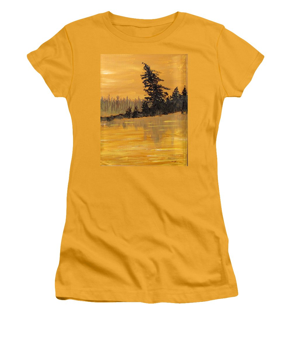 Northern Ontario Women's T-Shirt (Athletic Fit) featuring the painting Northern Ontario Three by Ian MacDonald