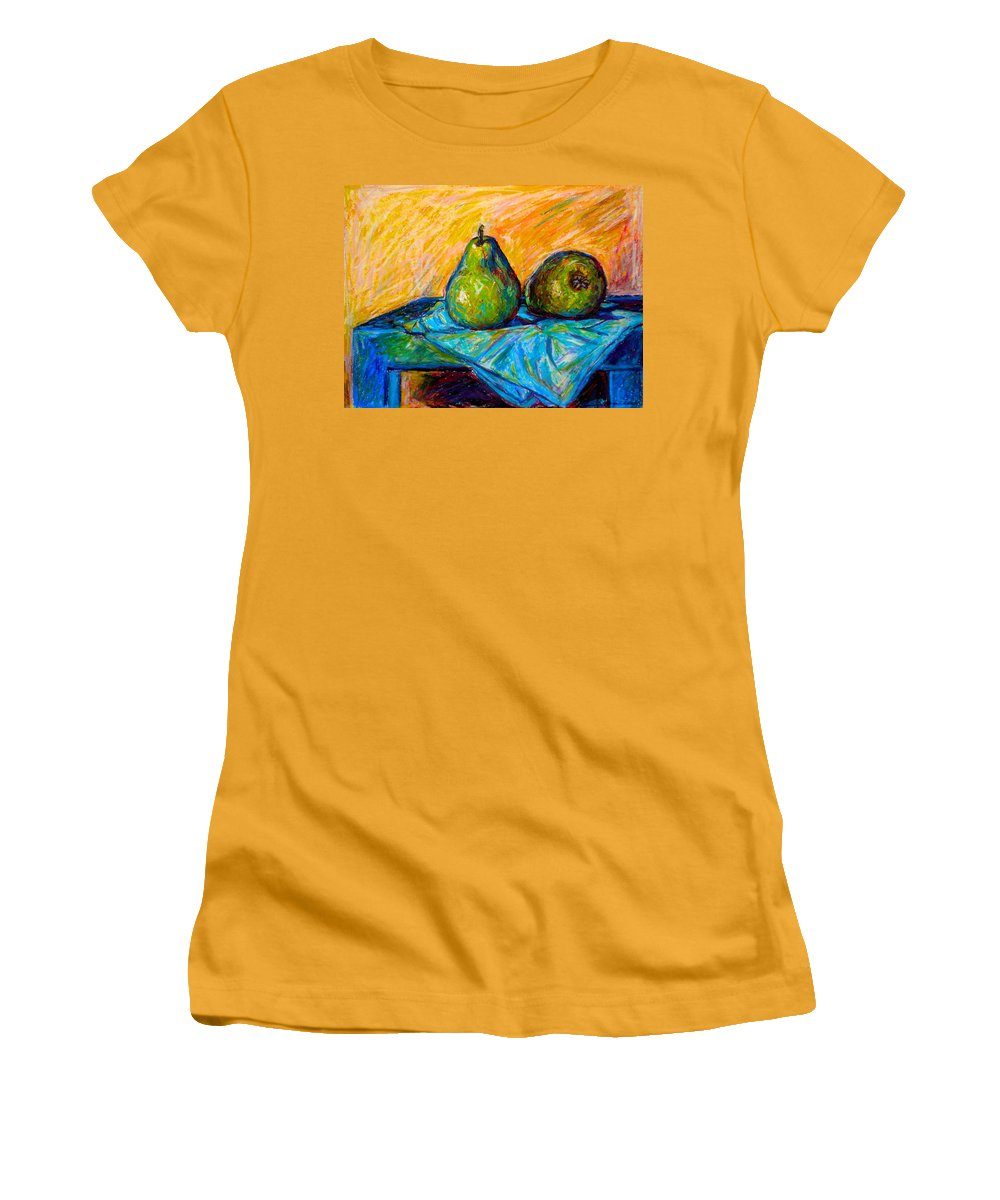 Still Life Women's T-Shirt (Athletic Fit) featuring the painting Other Pears by Kendall Kessler
