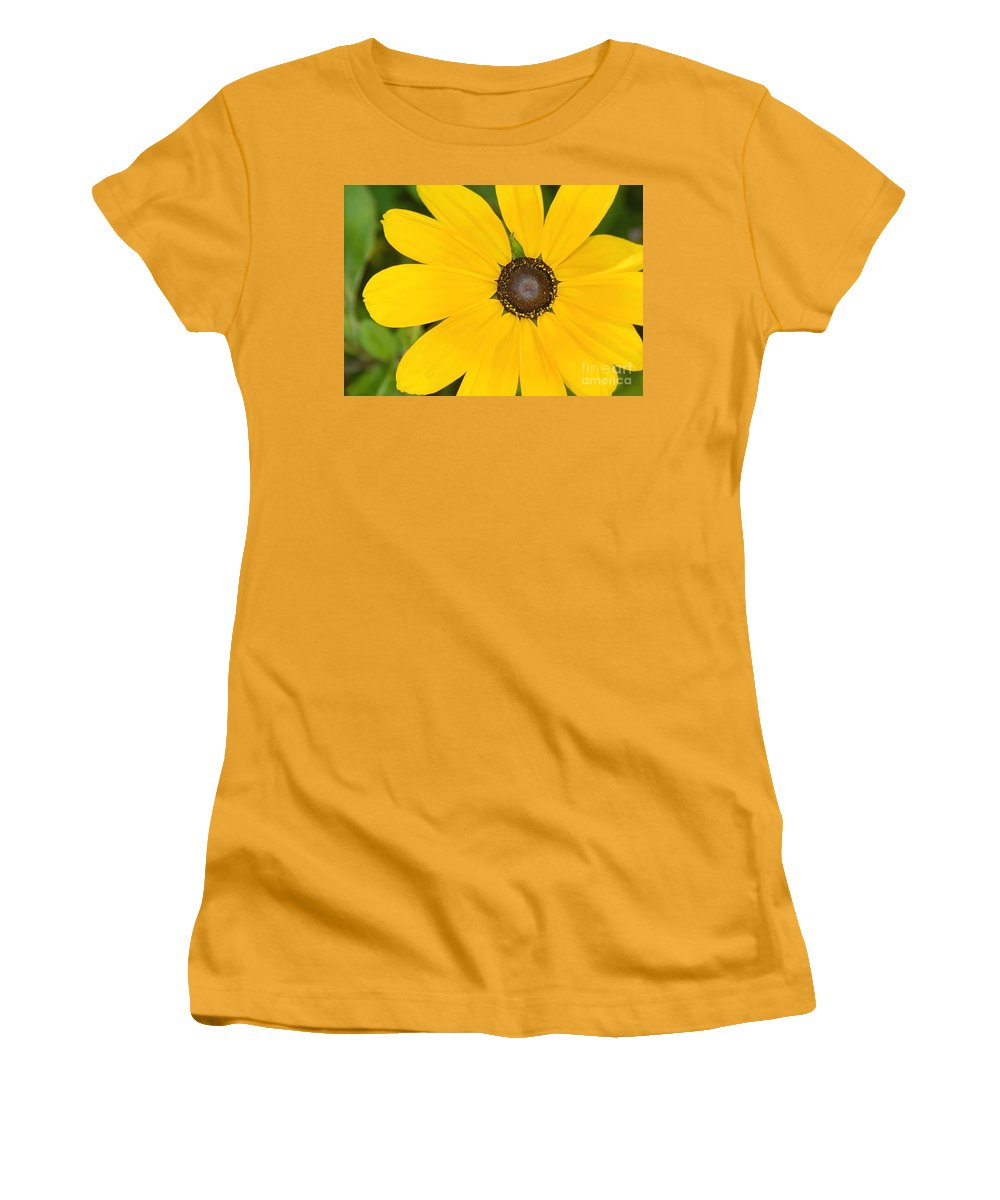 Yellow Flower Women's T-Shirt (Athletic Fit) featuring the photograph Pretty In Yellow by David Lee Thompson