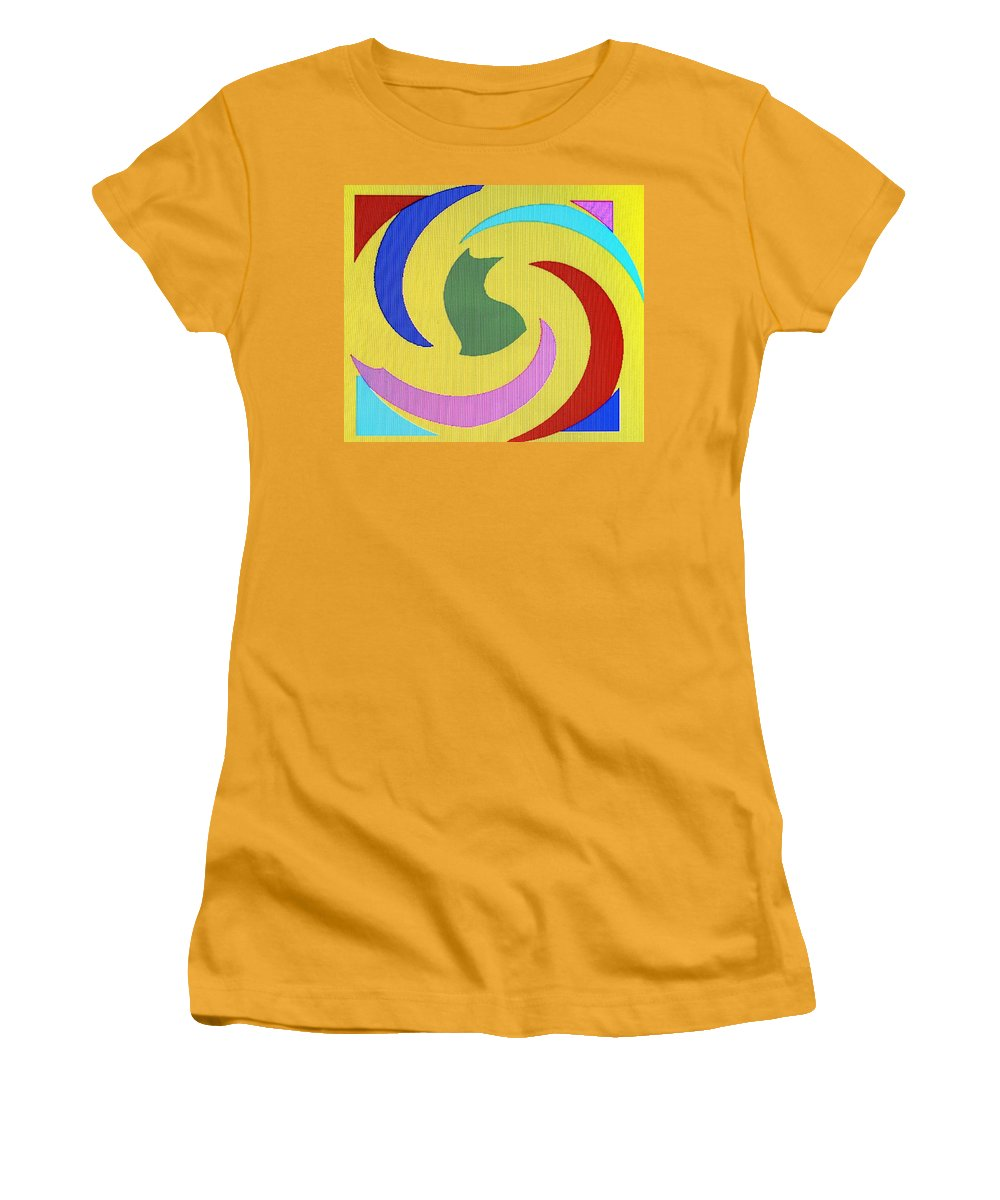 Abstract Women's T-Shirt (Athletic Fit) featuring the digital art Spiral Three by Ian MacDonald