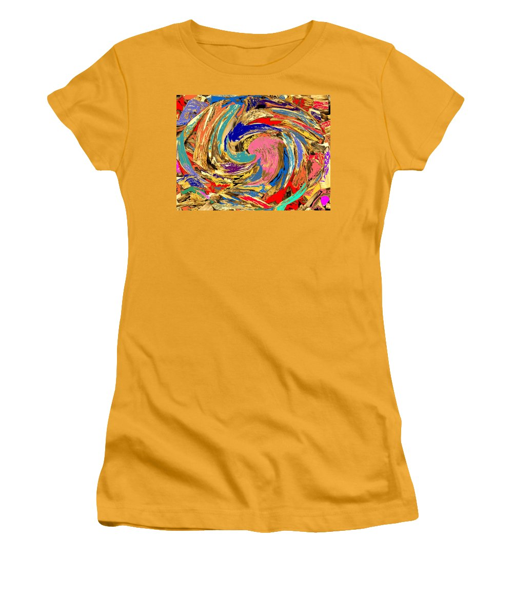 Wood Women's T-Shirt (Athletic Fit) featuring the photograph Split by Ian MacDonald