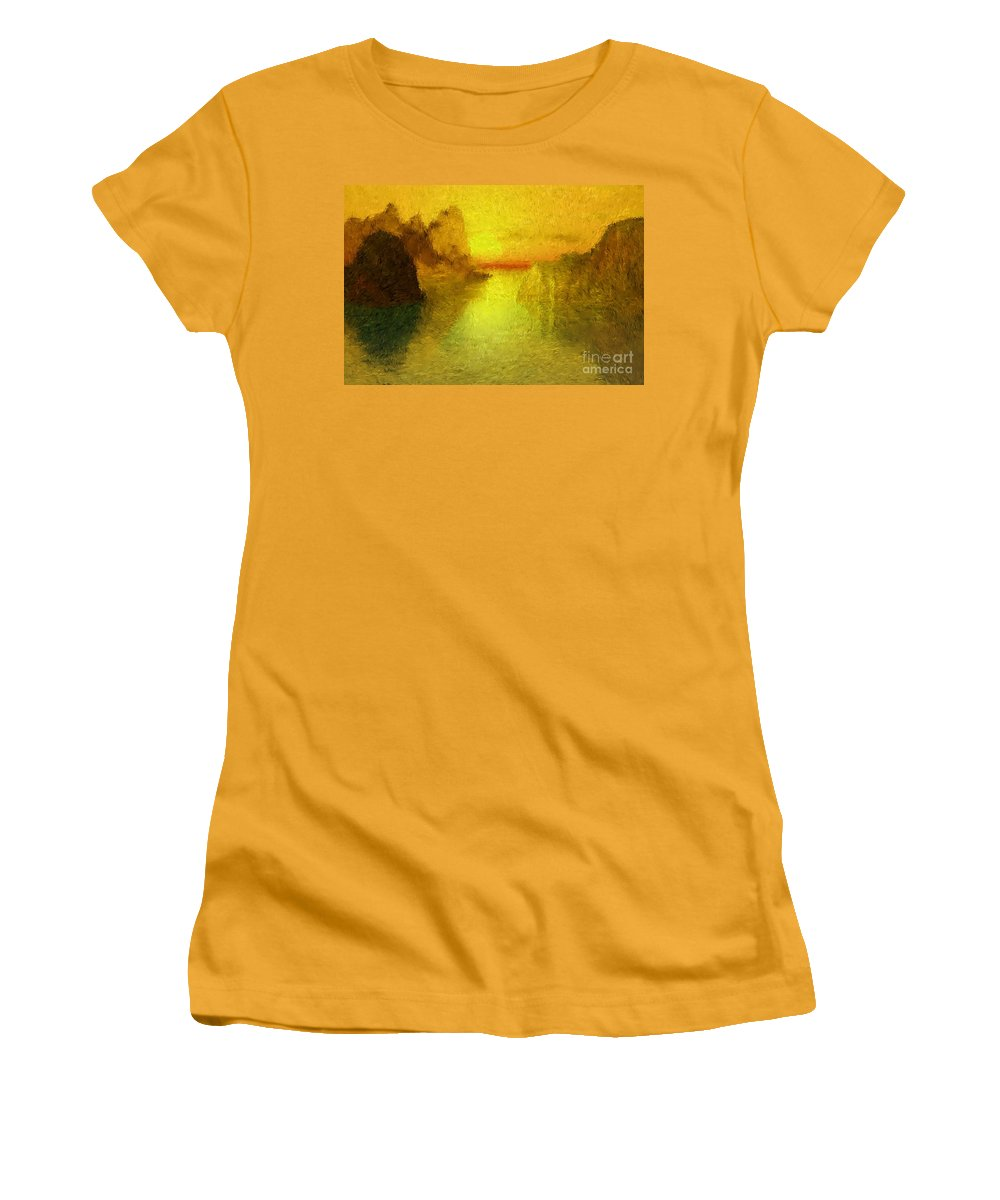 Nature Women's T-Shirt (Athletic Fit) featuring the digital art Sunrise by David Lane