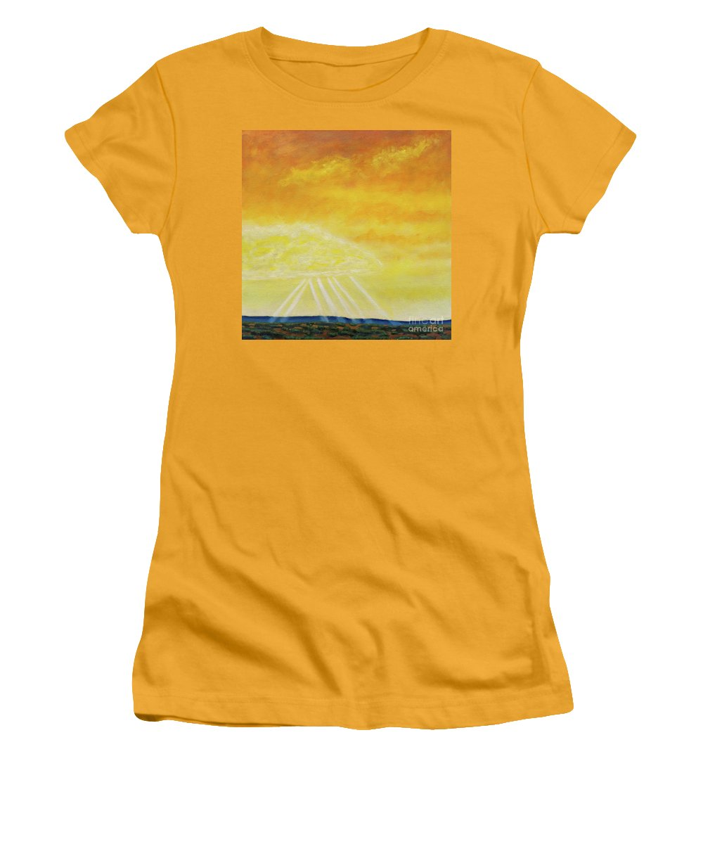 Landscape Women's T-Shirt (Athletic Fit) featuring the painting Super Seven by Brian Commerford