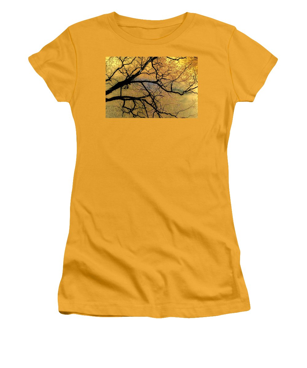 Scenic Women's T-Shirt (Athletic Fit) featuring the photograph Tree Fantasy 7 by Lee Santa