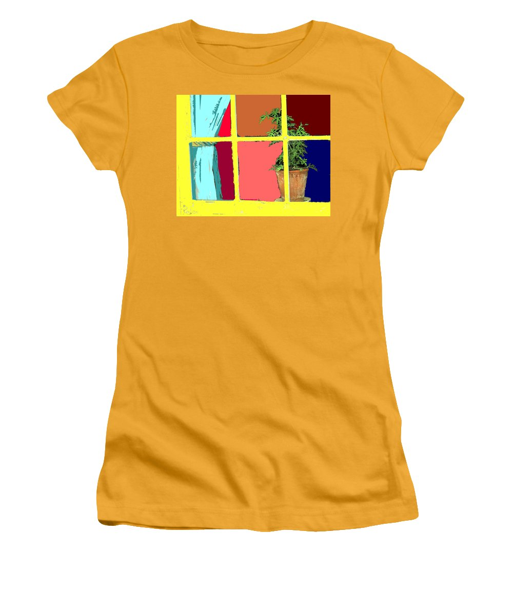Window Women's T-Shirt (Athletic Fit) featuring the photograph Window by Ian MacDonald