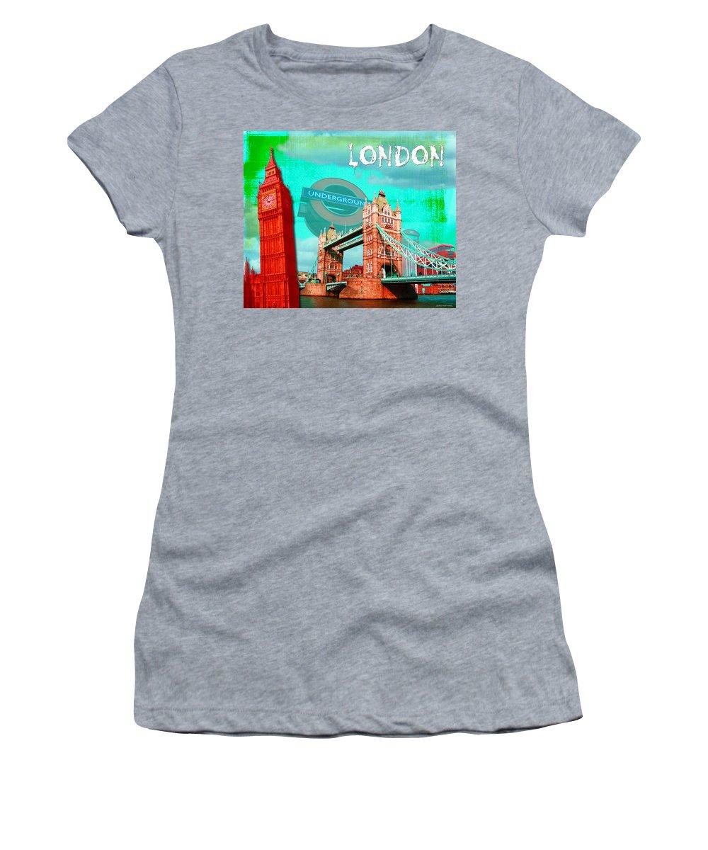 London Women's T-Shirt featuring the digital art London by Jan Raphael