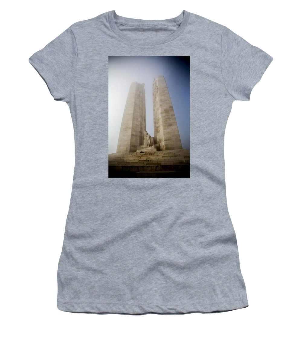 Memorial Women's T-Shirt featuring the photograph Towers In The Mist by David Hare
