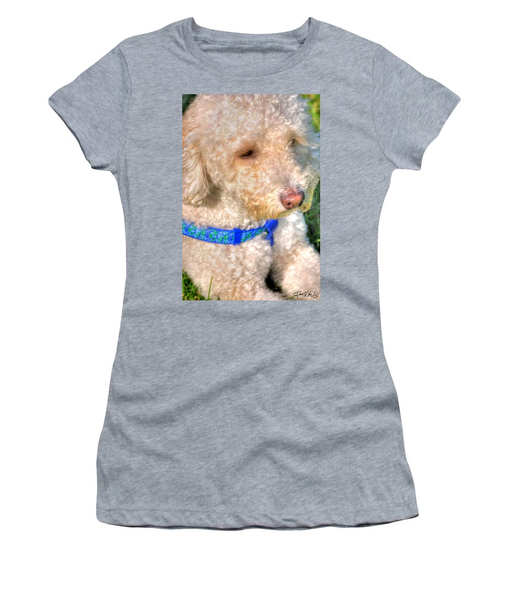 Pet Women's T-Shirt featuring the photograph 02 Portriat Of Wizard  Pet Series by Michael Frank Jr