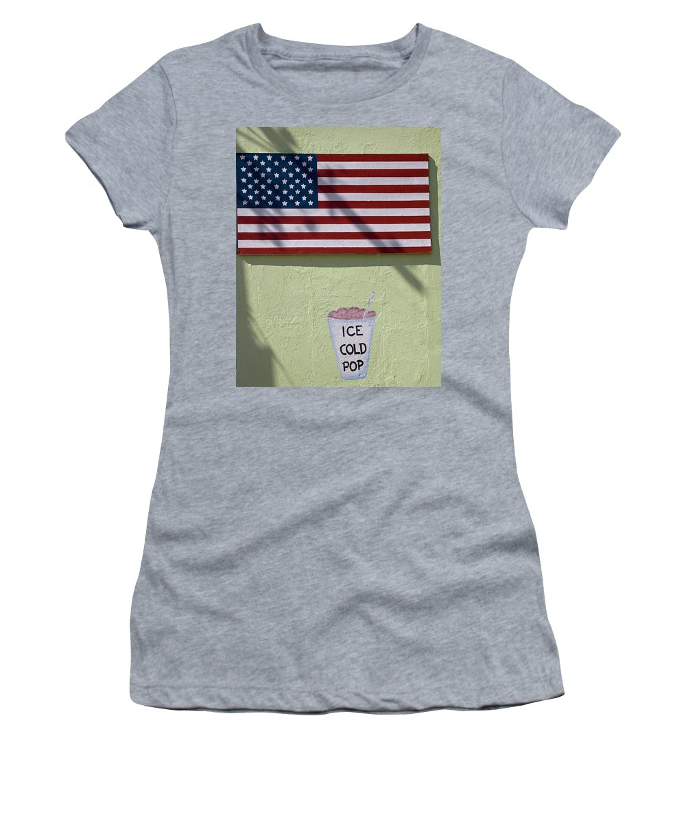 Arizona Women's T-Shirt featuring the photograph Advertisement On Route 66 In Arizona by Mountain Dreams