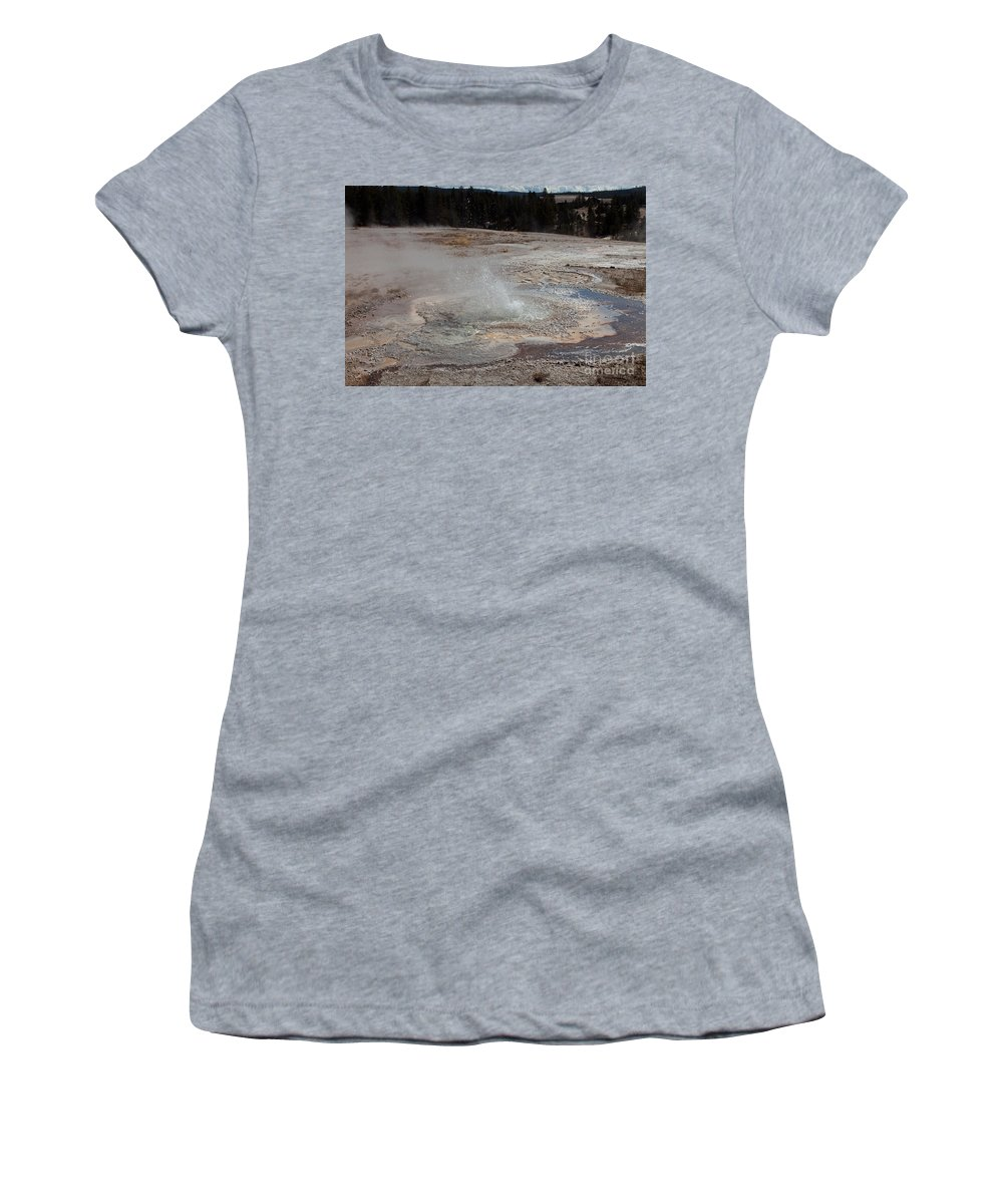 Anemone Geyser Women's T-Shirt featuring the photograph Anemone Geyser In Upper Geyser Basin by Fred Stearns