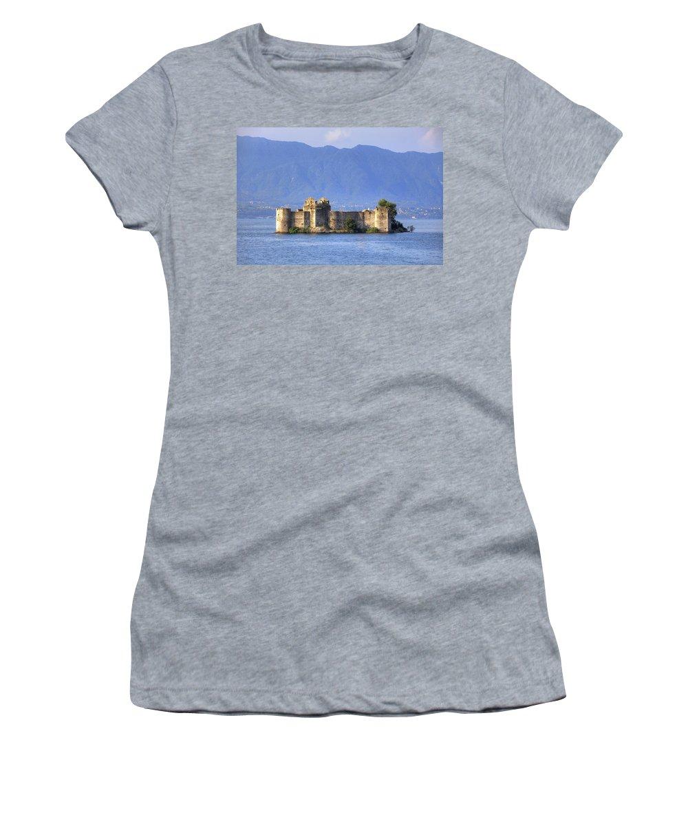 Castelli Di Cannero Women's T-Shirt featuring the photograph Castelli Di Cannero by Joana Kruse