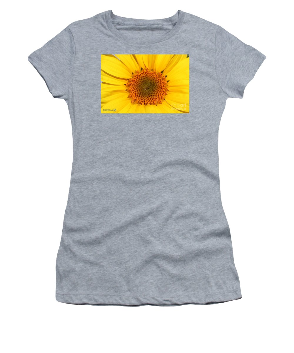 Mccombie Women's T-Shirt featuring the photograph Chipmunk's Peredovik Sunflower by J McCombie