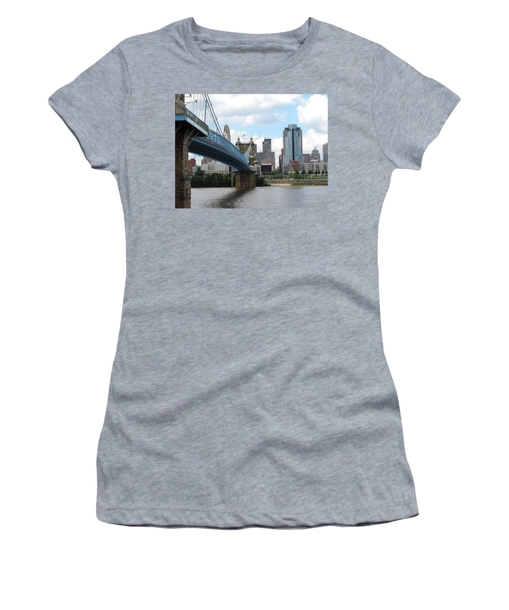 City Women's T-Shirt featuring the photograph Cincinnati Skyline by Cityscape Photography