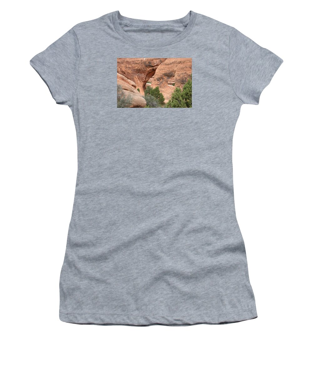 Arch Women's T-Shirt (Athletic Fit) featuring the photograph Double O Arch by Christiane Schulze Art And Photography