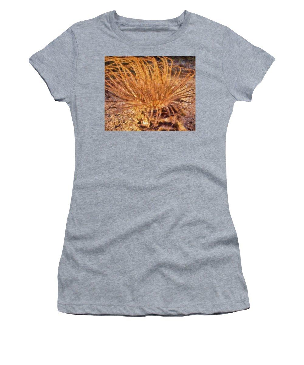 Anemone Women's T-Shirt featuring the digital art Firework Anemone by Roy Pedersen