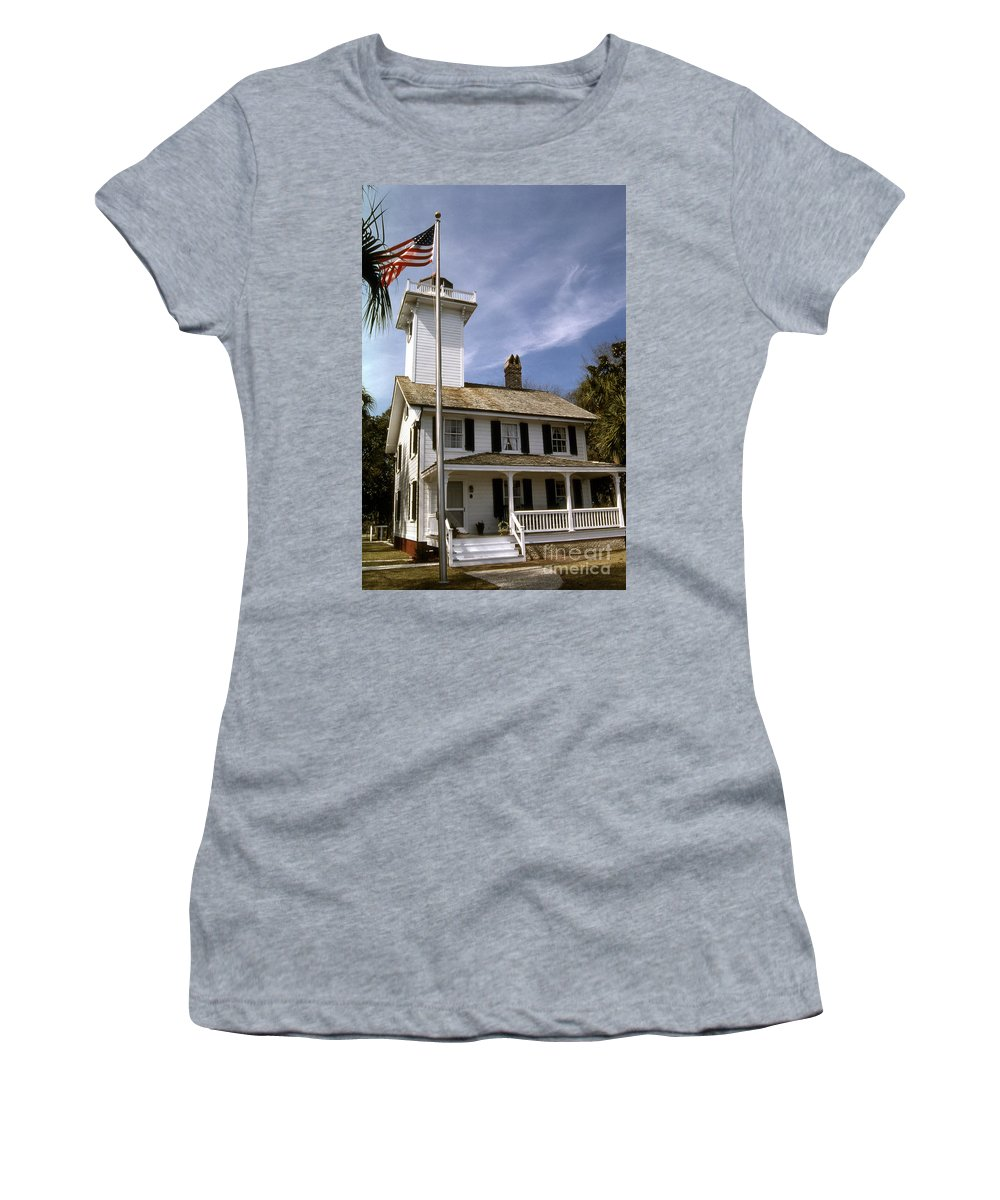 Lighthouses Women's T-Shirt featuring the photograph Haig Point Lighthouse by Skip Willits