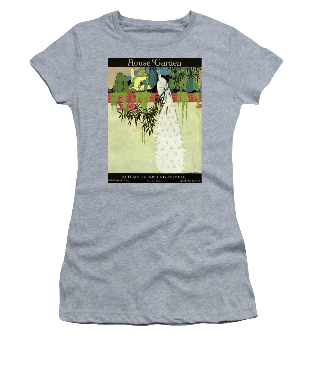 House And Garden Women's T-Shirt featuring the photograph House And Garden Cover by H. George Brandt